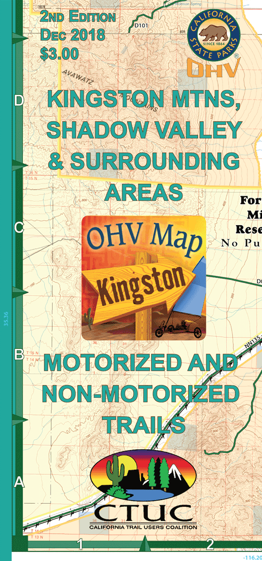 CTUC Map: Kingston Mountains, Shadow Valley, & Surrounding Areas