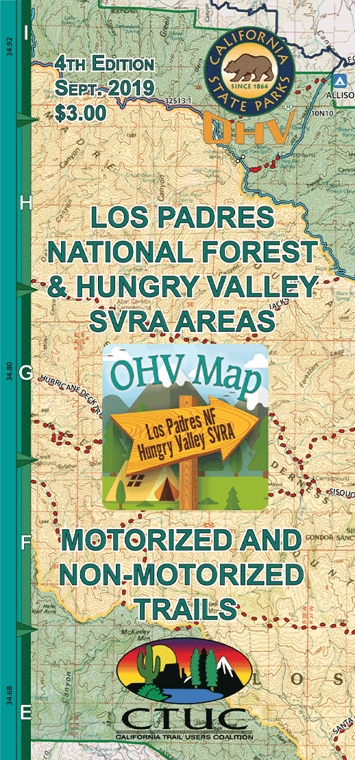 CTUC Map: Los Padres National Forest & Hungry Valley SVRA Areas