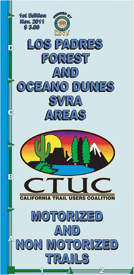 CTUC Map: Los Padres Forest & Oceano Dunes SVRA