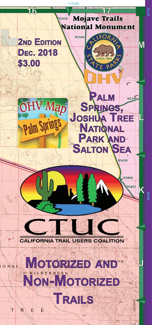 CTUC Map: Palm Springs, Joshua Tree National Park, & Salton Sea