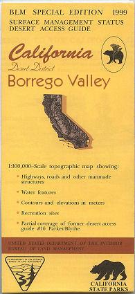 BLM: Borrego Valley Map