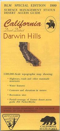 Darwin California Map.Blm Darwin Hills Map