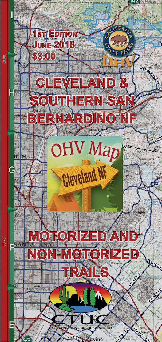 CTUC Map: Cleveland & Southern San Bernardino National Forest
