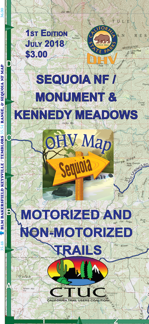 CTUC Map: Sequoia National Forest/Monument and Kennedy Meadows