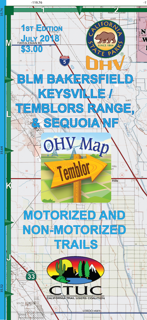 CTUC Map: BLM Bakersfield Keysville / Temblors Range & Sequoia National Forest