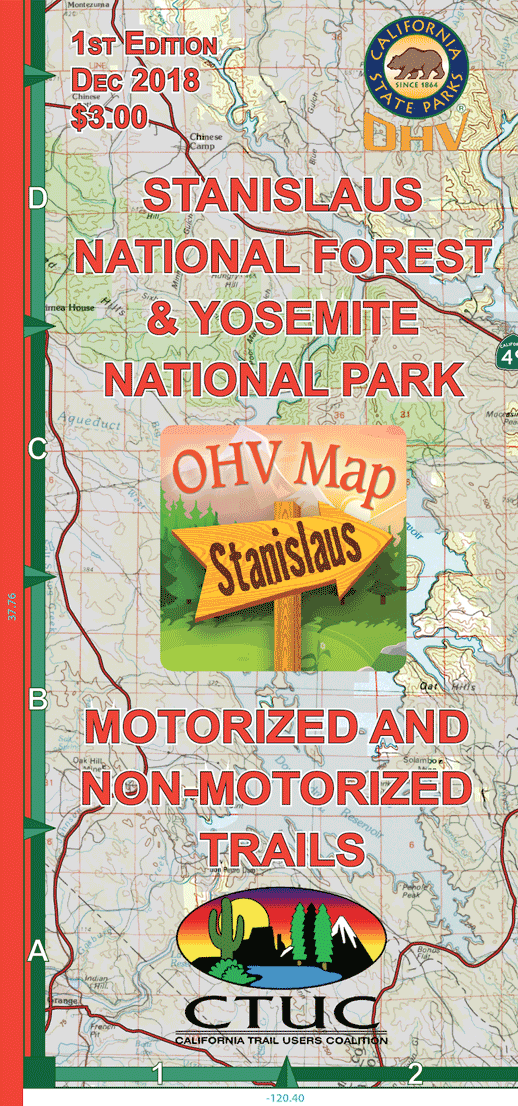 CTUC Map: Stanislaus National Forest & Yosemite National Park