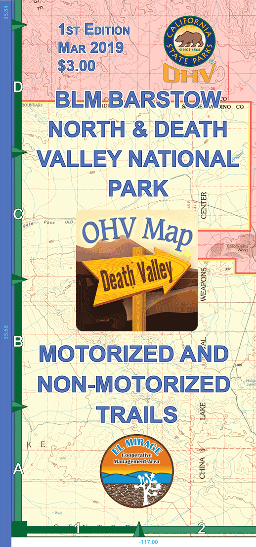 FOEM Map: BLM Barstow North & Death Valley National Park